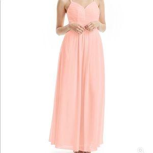 Azazie Paola Bridesmaid Dress - Coral - A6